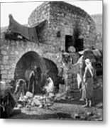 Bethlehem - Nativity Scene Year 1900 Metal Print