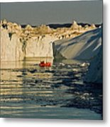 Between Icebergs - Greenland Metal Print