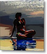 Between Sky And Sea Metal Print