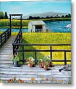 Beyond The Levee Metal Print