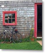 Bicycle At Barn Metal Print