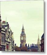Big Ben As Seen From Trafalgar Square, London Metal Print