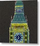 Big Ben Glowing Metal Print