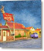 Big Bunny Motel Metal Print by Juli Scalzi