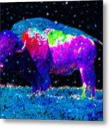 Big Snow Buffalo Metal Print