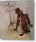 Bigfoot On Crystal Metal Print