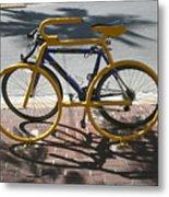 Bike And Rack Metal Print