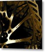 Bike Brake Metal Print by Angie Wingerd