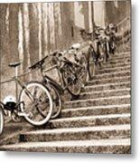 Bike Stairs Zurich Metal Print