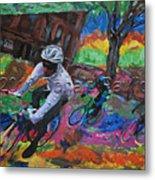 Biking In Mn  Metal Print