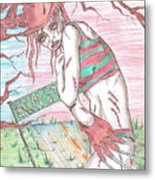 Bikini Freddy Metal Print