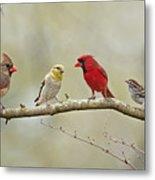 Bird Congregation Metal Print
