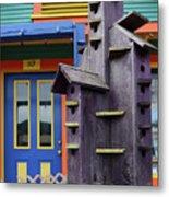 Birdhouses For Colorful Birds 2 Metal Print