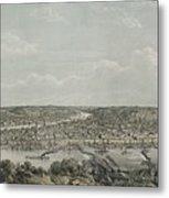 Birds-eye View Of Pittsburgh Metal Print