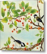 Birds In Autumn Season II Metal Print