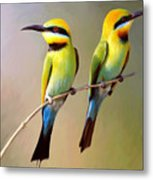 Birds On A Branch Metal Print
