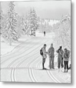 Birkebeiner Ski Trail Metal Print