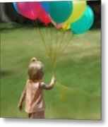 Birthday Balloons Metal Print