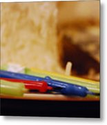 Birthday Candles Metal Print