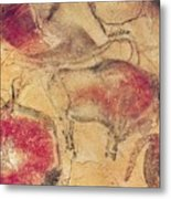 Bisons From The Caves At Altamira Metal Print by Prehistoric