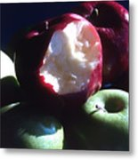 Bitten Apple Still Life Metal Print