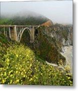 Bixby Bridge Metal Print by Harry Spitz