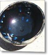 Black And Blue Bowl Metal Print