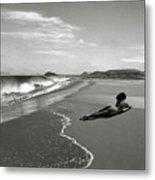 Black And White Nude 017 Metal Print
