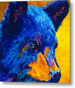 Black Bear Cub 2 Metal Print