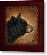 Black Bear Lodge Metal Print by JQ Licensing