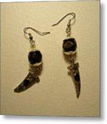 Black Dagger Earrings Metal Print