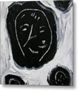 Black Faces Metal Print