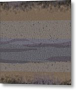 Black Grey Tan Landscape Metal Print