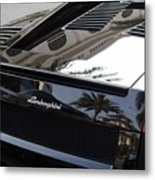 Black Lamborghini Sports Car  Metal Print