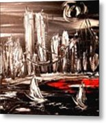 Black Manhattan Metal Print