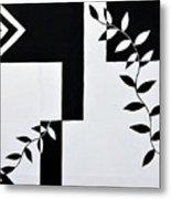 Black Vs White Again Metal Print