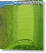 Blimp View Golf Metal Print