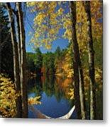 Bliss - New England Fall Landscape Hammock Metal Print