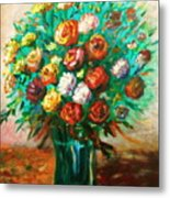 Blissful Blooms Metal Print