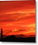 Blood-red Sky Metal Print