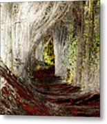 Blood Redwoods Metal Print