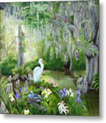 Blooming Swamp Metal Print