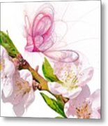 Blossom And Butterflies Metal Print