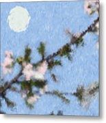 Blossoms In Moonlight Metal Print