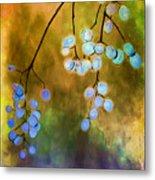Blue Autumn Berries Metal Print