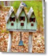 Blue Birds Castle Metal Print