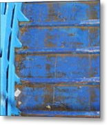 Blue Boat In Venice Metal Print