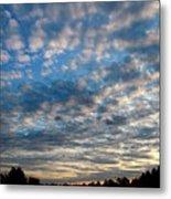 Blue Cloud  Neelamegam Metal Print