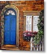 Blue Door 2 Metal Print