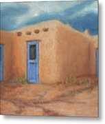 Blue Doors In Taos Metal Print by Jerry McElroy